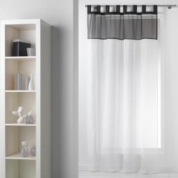 Panneau a passants 140 x 240 cm voile bicolore duo Blanc/Noir