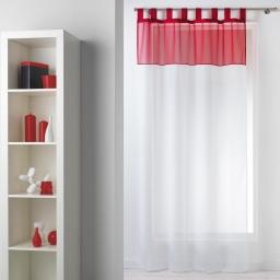 Panneau a passants 140 x 240 cm voile bicolore duo Blanc/Rouge