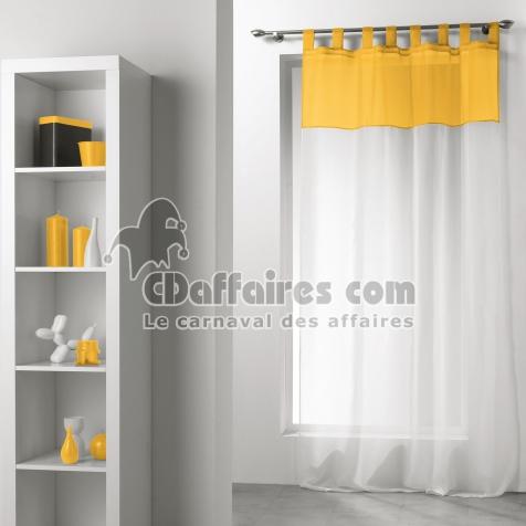 Panneau a passants 140 x 240 cm voile bicolore duo Blanc/Soleil