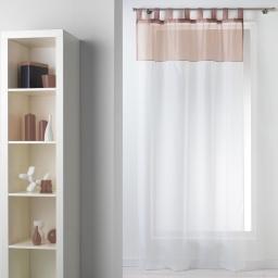 Panneau a passants 140 x 240 cm voile bicolore duo Blanc/Taupe
