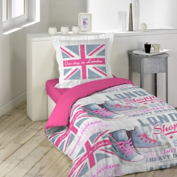 parure 2 p. 140 x 200 cm imprime 42 fils allover girly london