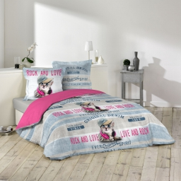 parure 3 p. 240 x 220 cm imprime 42 fils allover girly cat