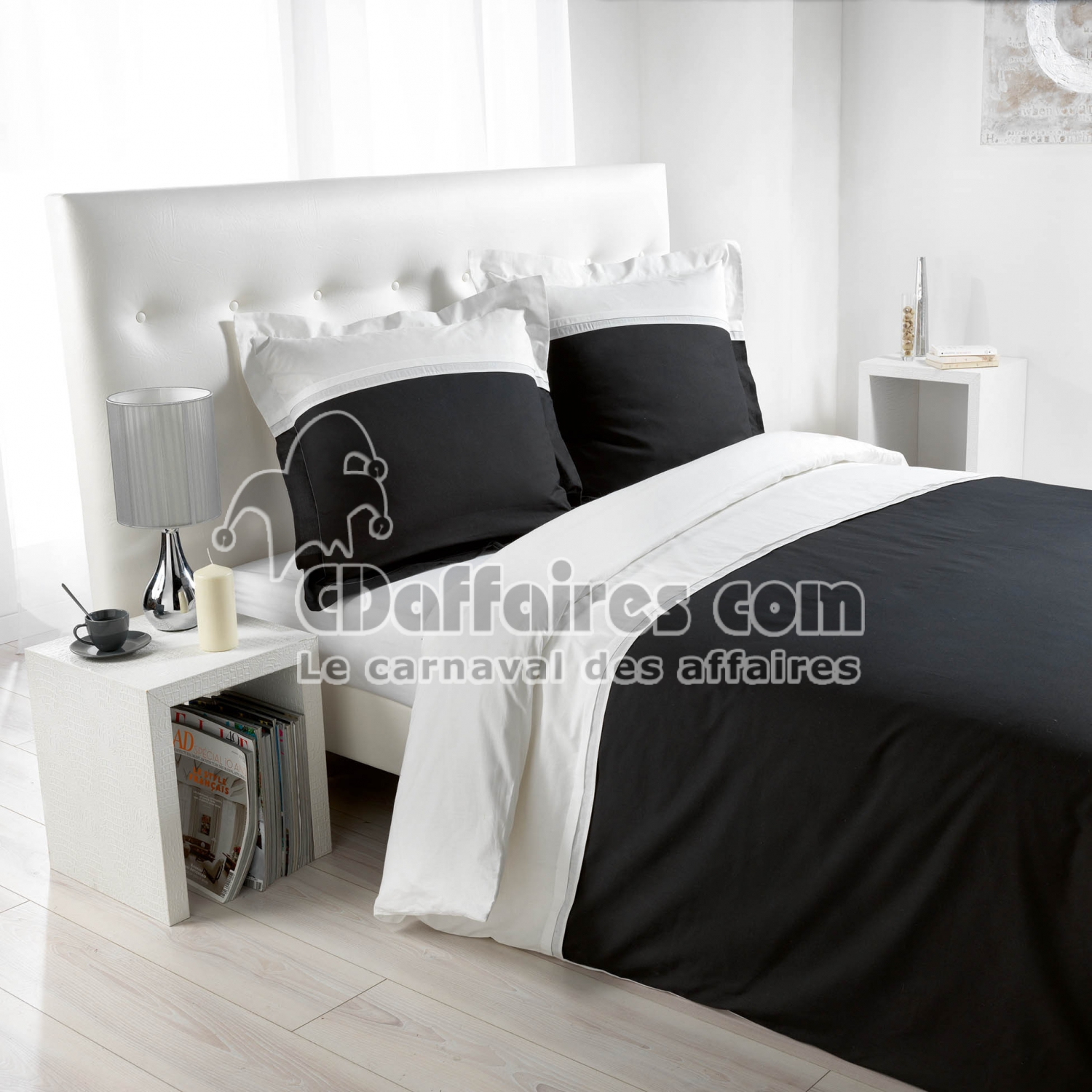 housses de couette unies cdaffaires. Black Bedroom Furniture Sets. Home Design Ideas