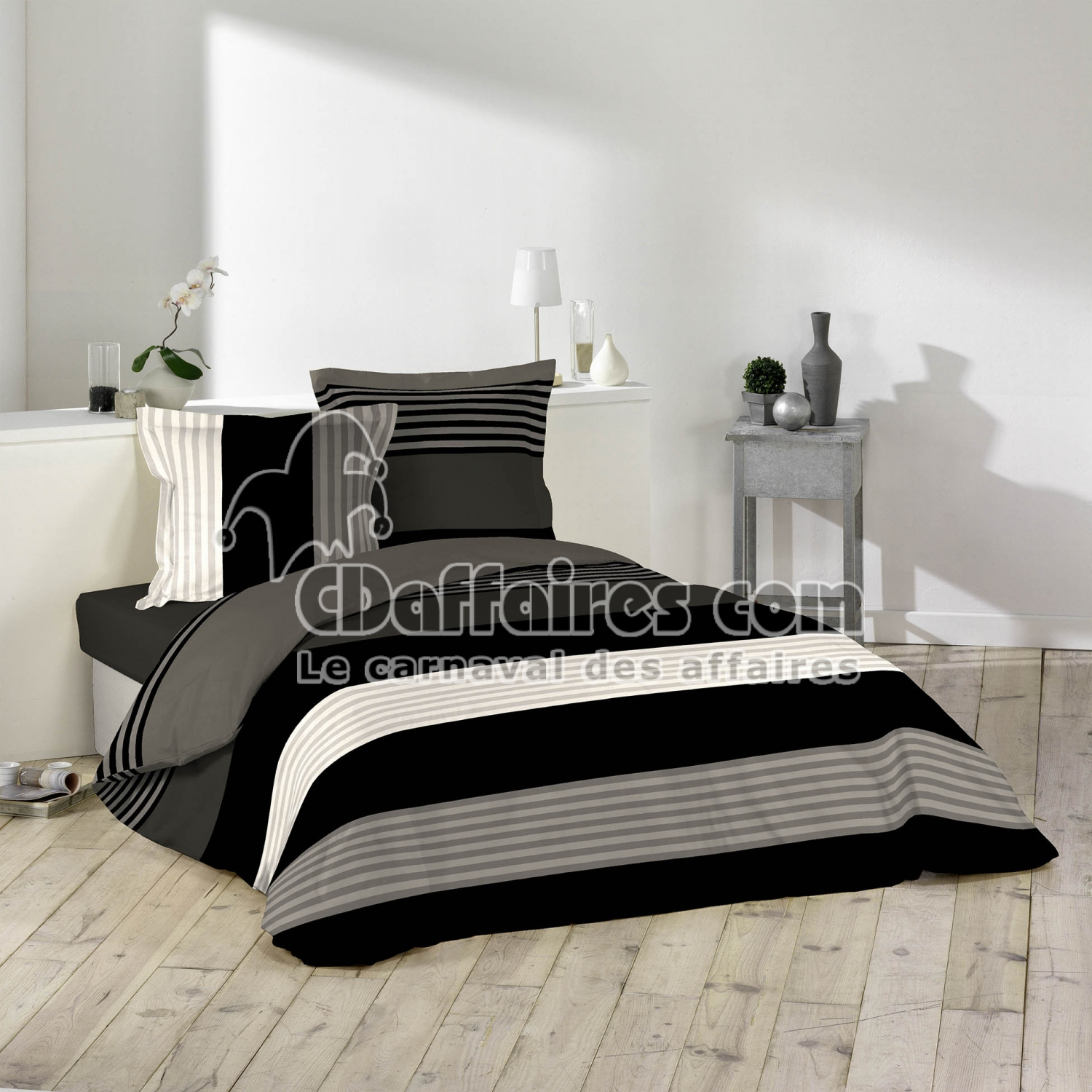 parures 240 x 260 cm cdaffaires. Black Bedroom Furniture Sets. Home Design Ideas