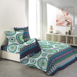 Parure de drap pour lit 2 personnes 140 x 190 cm imprime 57 fils allover messine