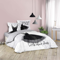 Parure de lit 240 x 220 cm imprime Black dress
