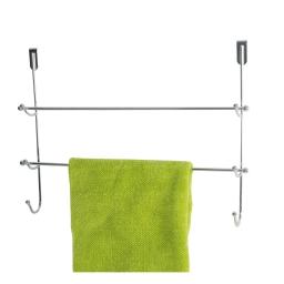 patere porte serviette metal 2 barres