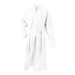 Peignoir kimono taille unique eponge unie vitamine Blanc