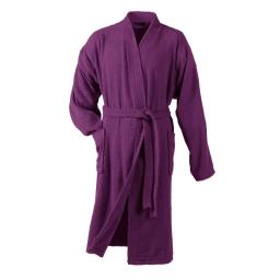 Peignoir kimono taille unique eponge unie vitamine Prune