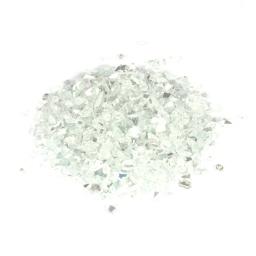 pépites de verre décoratives effet miroir - blanc - 250grs