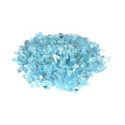pépites de verre décoratives effet miroir - bleu - 250grs