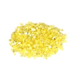 pépites de verre décoratives effet mirroir - coloris jaune - 250grs