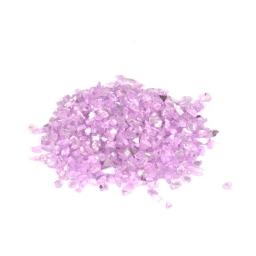 pépites de verre décoratives effet mirroir - coloris lilas - 250grs