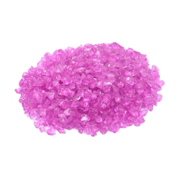 pepites de verre decoratives rose 630gr - env. 2-5mm