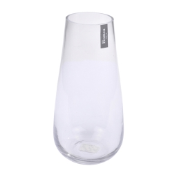 photophore allongé verre transparent h27.5*ø8cm