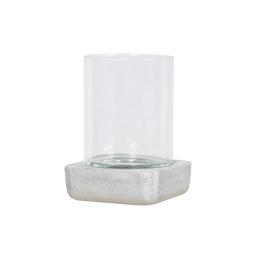 photophore carré base ficonstone h21cm gris clair