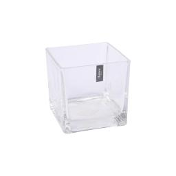 photophore carré verre transparent 10*10*h10cm