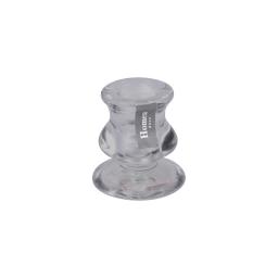 photophore chandelier verre fumé ø 5.5*h6.2cm