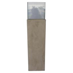 photophore colonne base fibercement h120cm beige effet beton