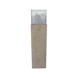 photophore colonne base fibercement h80cm beige effet beton