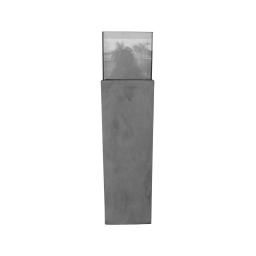 photophore colonne base fibercement h80cm gris effet beton