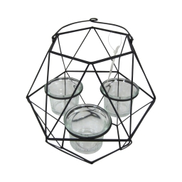 photophore geometrik 20*17.5*h27cm noir