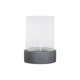 photophore rond base ficonstone h24cm gris anthracite