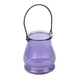 photophore verre teinté 8.2*h9.5cm romantique lavande