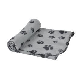 plaid 100% polyester 100*70cm - design pattou coloris gris pour animaux