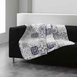 Plaid 125 x 150 cm flanelle imprimee persane Gris