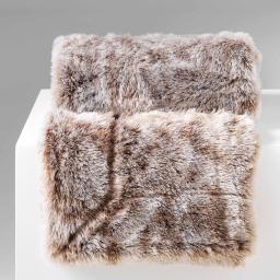 Plaid 180 x 220 cm imitation fourrure antartic Choco