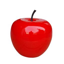 pomme en polyrésine ø35cm laquée rouge
