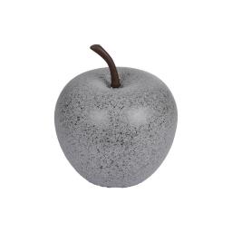 pomme en résine ø25.5cm gris clair moucheté