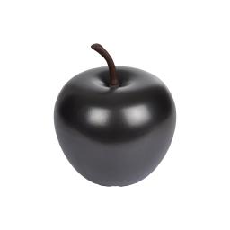 pomme en résine ø25.5cm noir mat