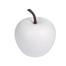 pomme en résine ø34.5cm blanc mat
