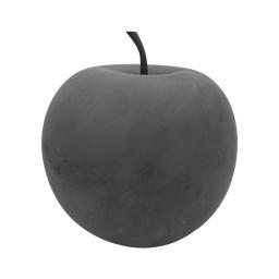 pomme en résine ø34.5cm gris effet beton