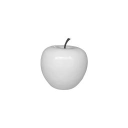 pomme polyresine 25*h23cm blanc