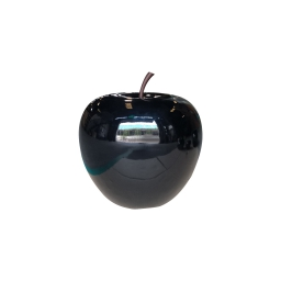 pomme polyresine 30*h27cm noir