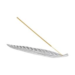 porte batonnets encens forme feuille en aluminium 30*4*0.5cm