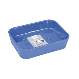 Porte-savon effet soft touch  douceur d'interieur theme vitamine Bleu roi
