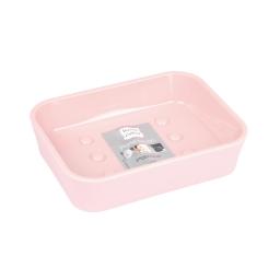 Porte-savon effet soft touch rose poudré douceur d'interieur theme vitamine Rose poudre