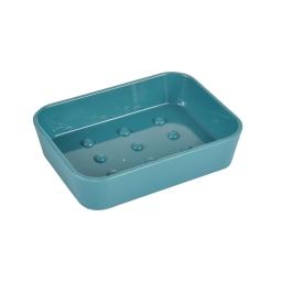 Porte-savon plastique effet soft touch vitamine bleu emeraude Bleu/emeraude