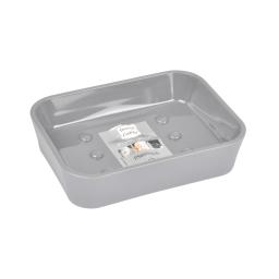 porte-savon plastique effet soft touch vitamine gris clair