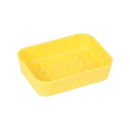 porte-savon plastique effet soft touch vitamine jaune