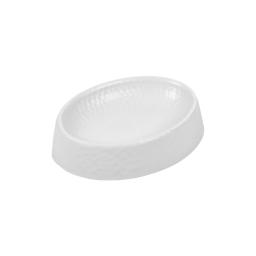 porte-savon plastique martelé urban blanc