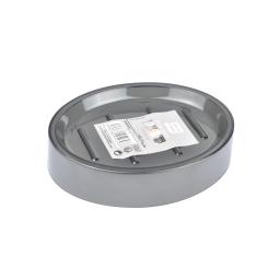 porte-savon plastique translucide vitamine gris anthracite