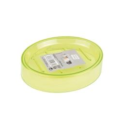 porte-savon plastique translucide vitamine vert anis