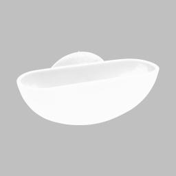 porte-savon ventouse plastique vitamine blanc