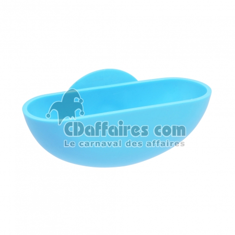 Portesavon Ventouse Plastique Vitamine Bleu Ocean CDAffaires - Porte savon ventouse