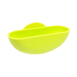 porte-savon ventouse plastique vitamine vert anis